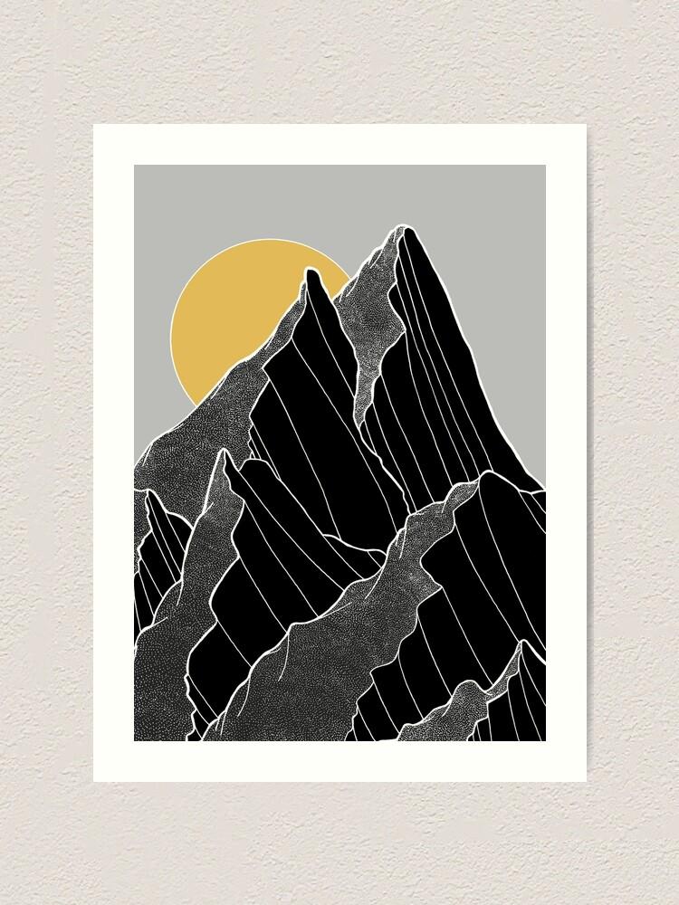 Alternative Ansicht von Die dunklen Gipfel unter der goldenen Sonne Kunstdruck