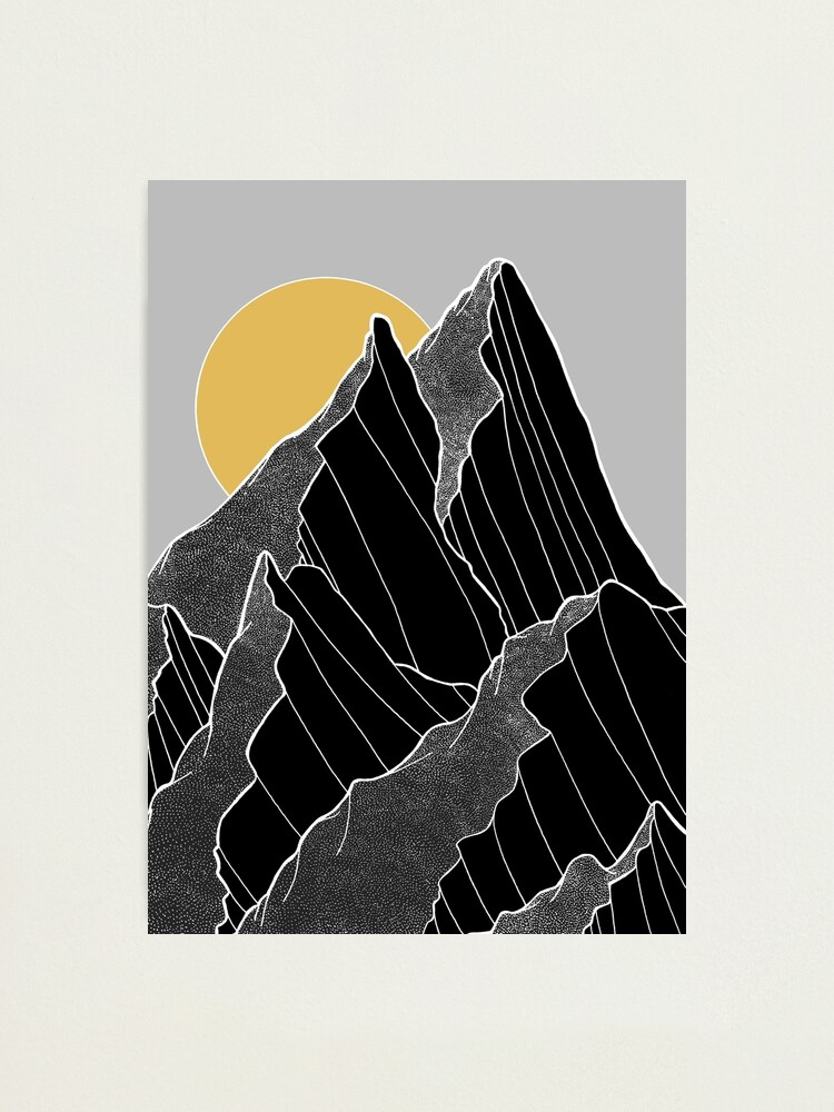 Alternate view of The dark peaks under the golden sun Photographic Print