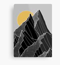 The dark peaks under the golden sun Metal Print