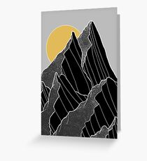 The dark peaks under the golden sun Greeting Card