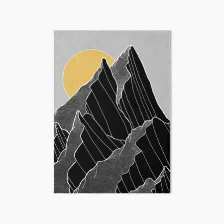 Die dunklen Gipfel unter der goldenen Sonne Galeriedruck