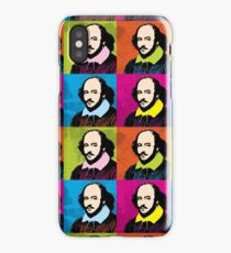 WILLIAM SHAKESPEARE - WARHOL-STYLE 4-UP POP ART ILLUSTRATION iPhone Case/Skin