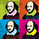 WILLIAM SHAKESPEARE - WARHOL-STYLE 4-UP POP ART ILLUSTRATION by Clifford Hayes