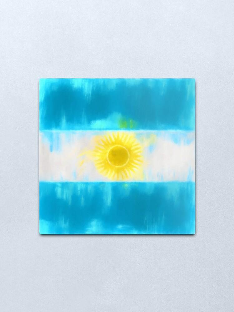Alternate view of Argentinian Flag No. 1, Series 1 Metal Print