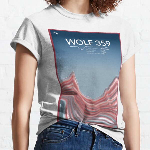 Wolf 359 Space Poster Classic T-Shirt