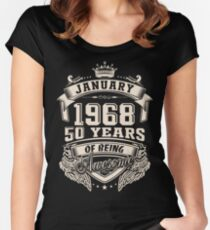 Born in January 1968 - 50 years of being awesome Women's Fitted Scoop T-Shirt