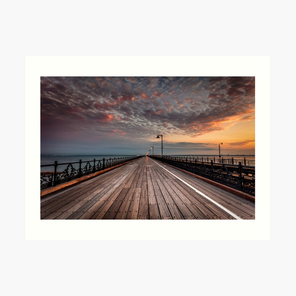 Sunrise On Ryde Pier Art Print
