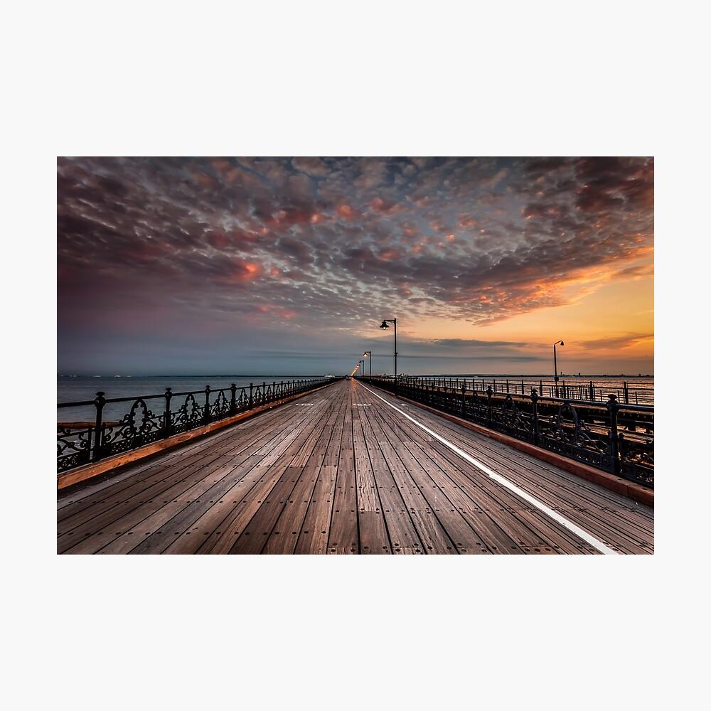 Sunrise On Ryde Pier Photographic Print