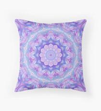 Purple Flower Mandala Floor Pillow