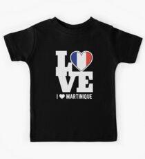 Love Martinique T-Shirt Patriotic Martiniquais Expat Kids Tee