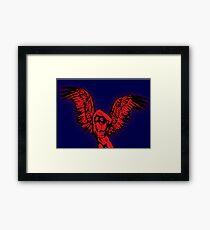 Weeping Angel Pop Art Framed Print