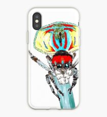 Peacock spider Maratus volans iPhone Case