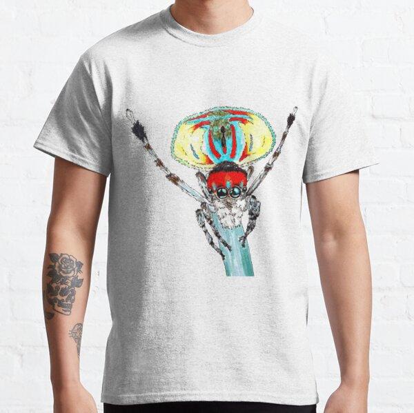 Peacock spider Maratus volans Classic T-Shirt
