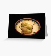 Pears. Greeting Card