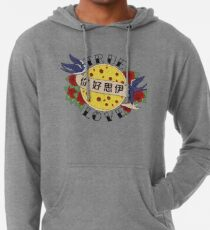 Pizza Love Tattoo Lightweight Hoodie