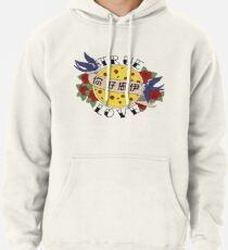 Pizza Love Tattoo Pullover Hoodie