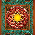 Celtic Knotwork Panel in Persian Green by Carrie Dennison