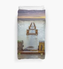 Seaview Outfall Isle Of Wight Duvet Cover