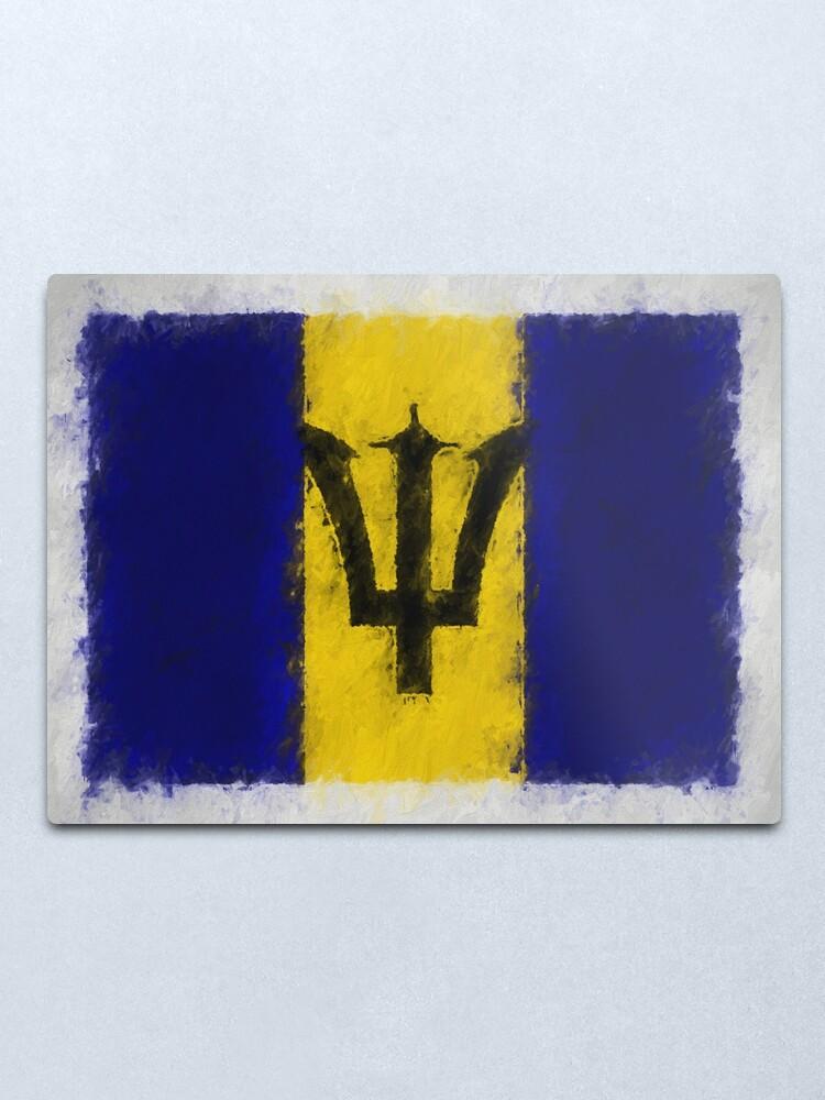 Alternate view of Barbadian Flag No. 66, Series 4 Metal Print