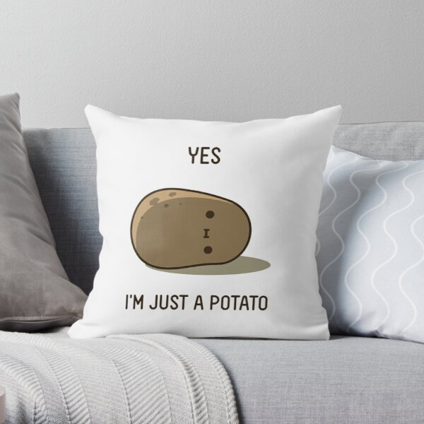 Cute Potato Throw Pillow