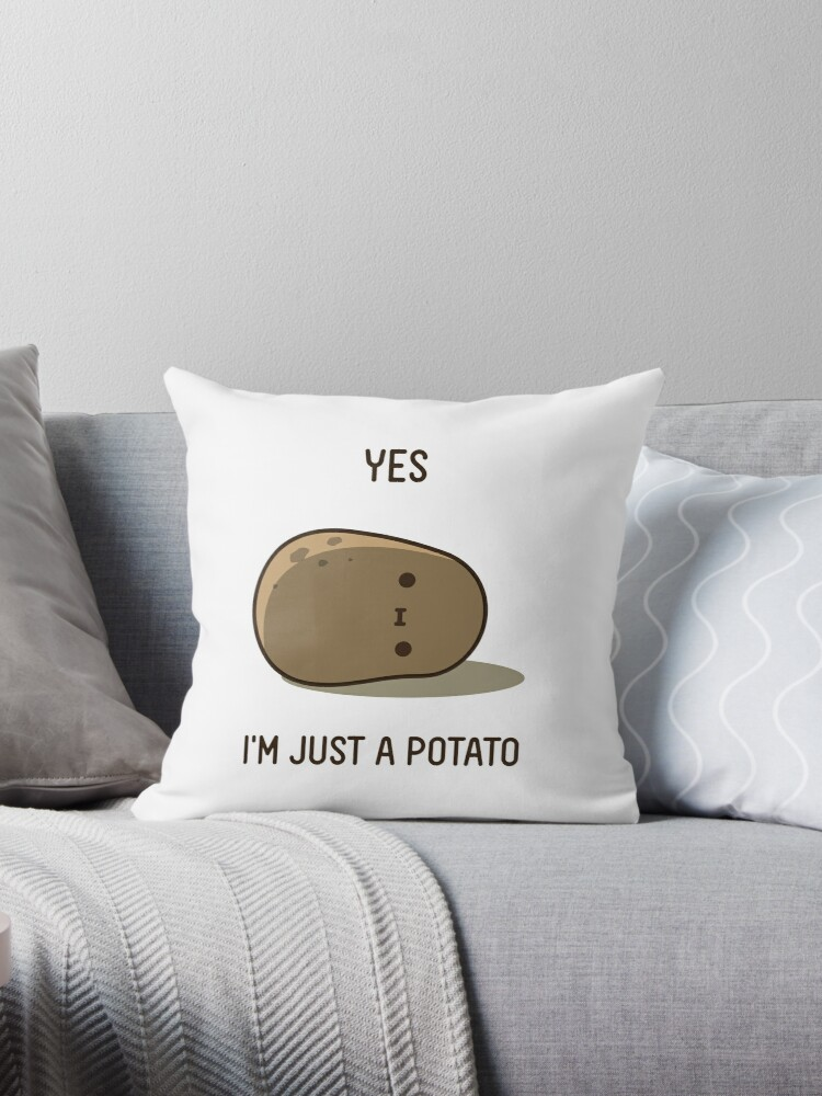Quot Cute Potato Quot Throw Pillow By Clgtart Redbubble