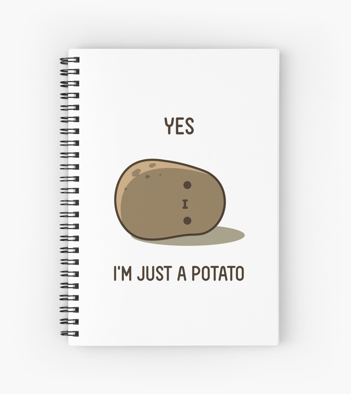 cute potato spiral notebooks by clgtart redbubble