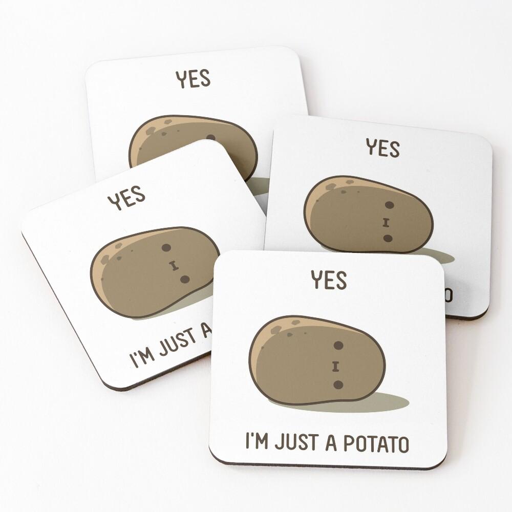 Cute Potato Coasters (Set of 4)