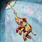 Umbrella Elephant by Ellen Marcus
