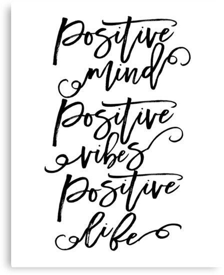 "Life Size Quotes: ""GOOD VIBES ONLY, Positive Mind Positive Vibes,Positive"
