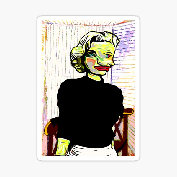 Marilyn Monroe by Picasso Sticker