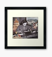 Just a normal day in the office Framed Print