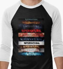 Supernatural intro seasons 1-10 Men's Baseball ¾ T-Shirt