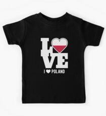 Love Poland T-Shirt Patriotic Polish Expat Kids Tee