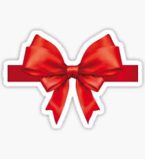 I'm Yours Present Bow Funny Christmas Gift Idea Sticker