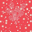 « Holiday Edition | Print Vivid Red » par Maïmouna Aidara