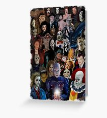 Horror Classics Greeting Card