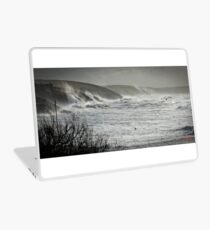 Another Storm coming to Cornwall Laptop Skin