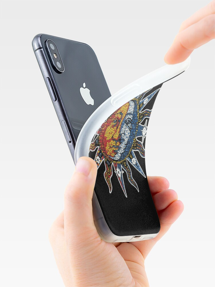 Alternate view of Celestial Mosaic Sun/Moon iPhone Case & Cover