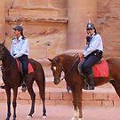 treasury guards at Petra, Jordan by chord0