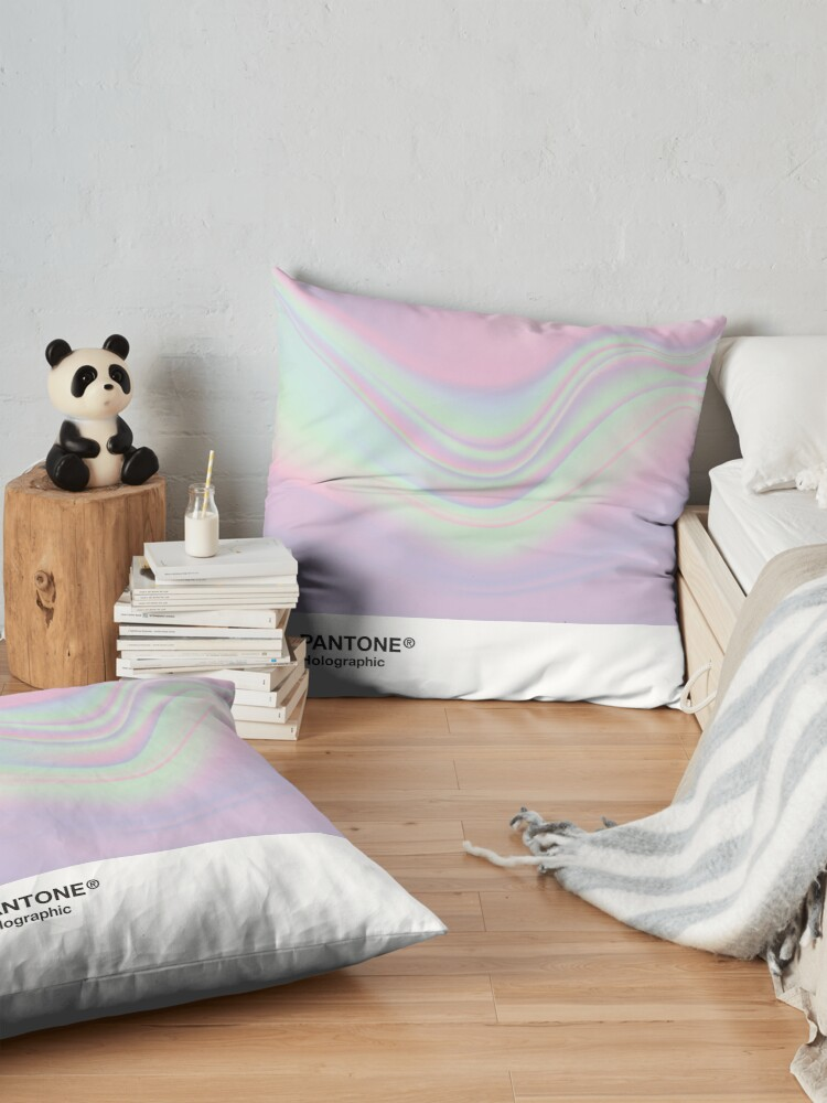 Alternate view of H.I.P.A.B - Holographic Iridescent Pantone Aesthetic Background Floor Pillow