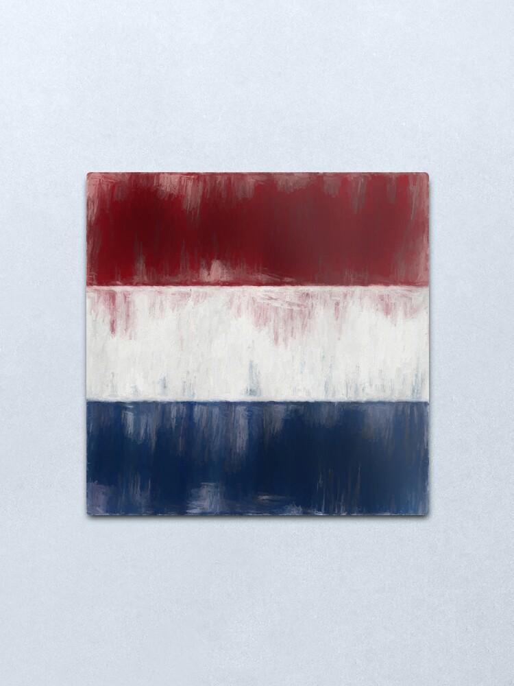 Alternate view of Dutch Flag No. 1, Series 2 Metal Print