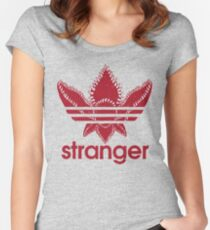 Stranger Things - Adidas logo Women's Fitted Scoop T-Shirt