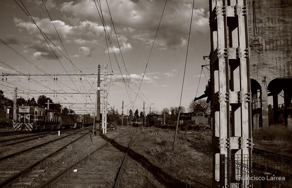 Railway in San Rosendo. by Francisco Larrea
