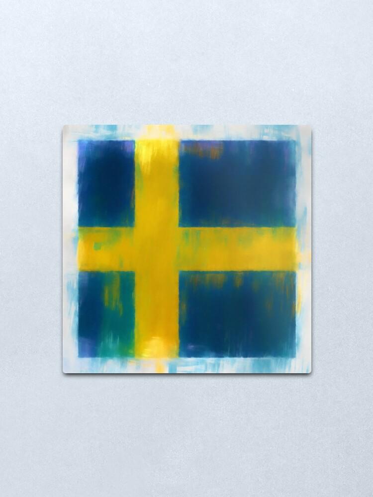 Alternate view of Swedish Flag No. 2, Series 1 Metal Print