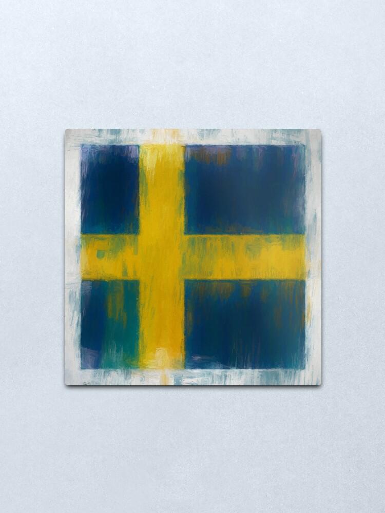 Alternate view of Swedish Flag No. 2, Series 2 Metal Print