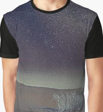 Blood Moon, Milkyway and The Shara by Adam Asar m Graphic T-Shirt