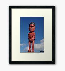 Maori Carving Framed Print