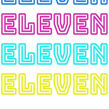 RETRO WORDMARK | VINTAGE ELEVEN WORDMARK T-SHIRT by myshirtshopllc