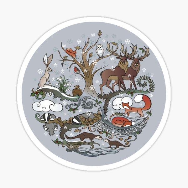 Born to Roam Wild in Winter Sticker
