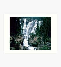 Rocky Mountain Waterfall Art Print